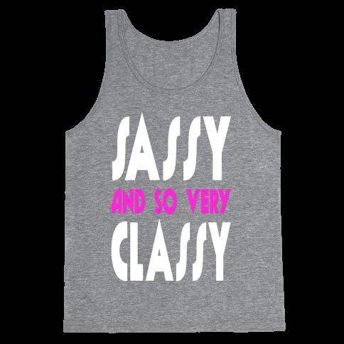 Sassy and so Very Classy (Juniors) Tank Top