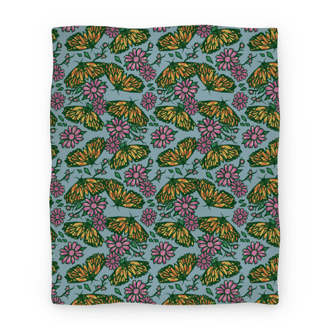Butterflies In Bloom Blanket