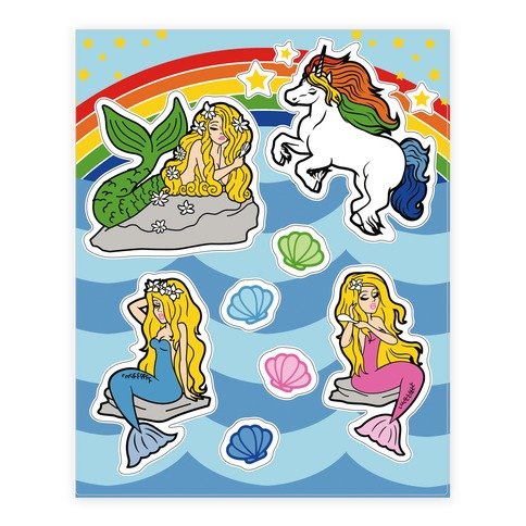 Mermaids and Magic Sticker and Decal Sheet