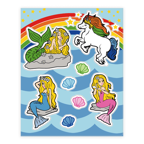 Mermaids and Magic  Sticker/Decal Sheet
