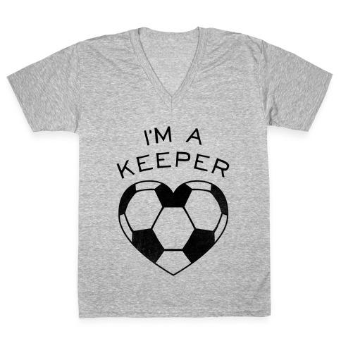 I'm a Keeper V-Neck Tee Shirt