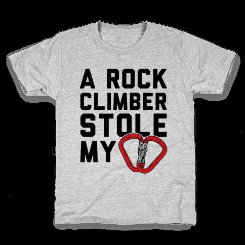 A Rock Climber Stole My Heart Kids T-Shirt