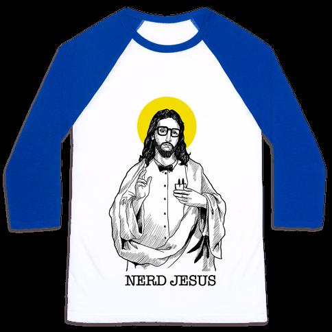 Nerd Jesus Baseball Tee