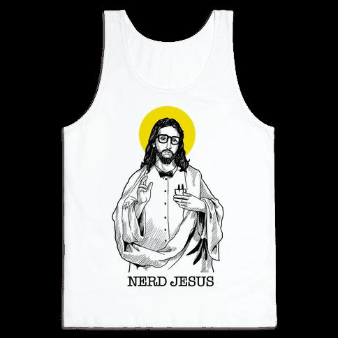 Nerd Jesus Tank Top