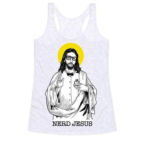 Nerd Jesus Racerback Tank Top