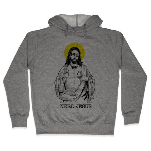 Nerd Jesus Hooded Sweatshirt