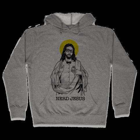 Nerd Jesus Hooded Sweatshirt