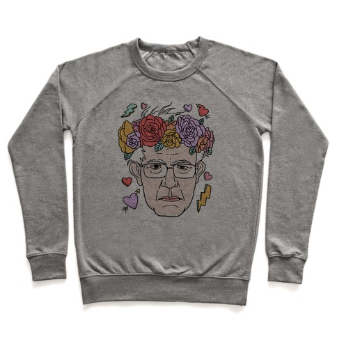 Bernie With Flower Crown Pullover