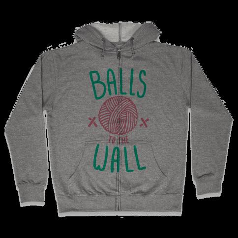 Balls to the Wall (Yarn) Zip Hoodie