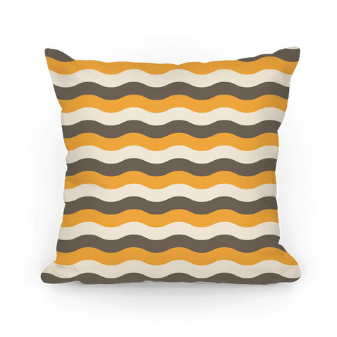 Orange Cream Grey Pillow Pillow