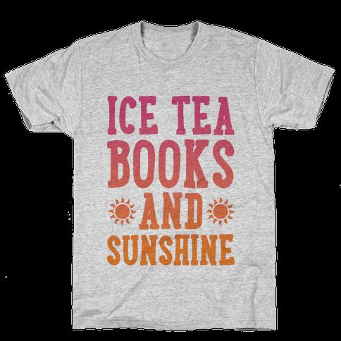 Ice Tea, Books and Sunshine Mens T-Shirt