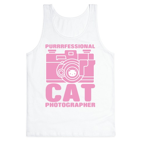 Professional Cat Photographer Tank Top