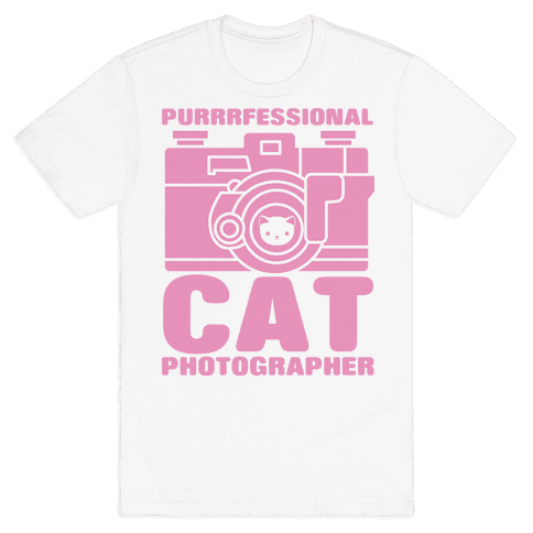 Professional Cat Photographer Mens T-Shirt