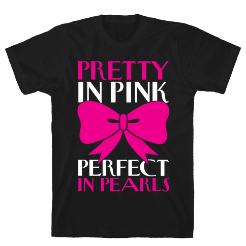Pink And Pearls Mens T-Shirt