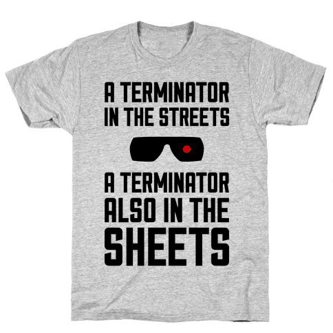 A Terminator In The Streets Mens T-Shirt