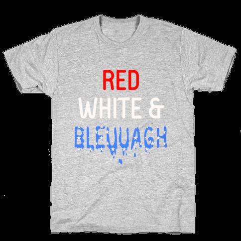 Red White & Bleuuagh Mens T-Shirt