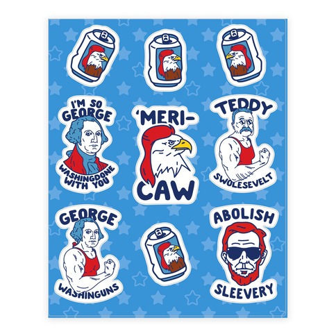 'Merica Presidents Sticker and Decal Sheet