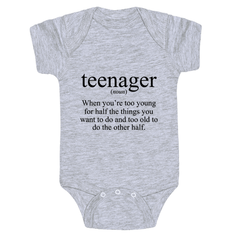 Teenager Definition Baby Onesy