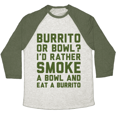 Burrito or Bowl? Baseball Tee