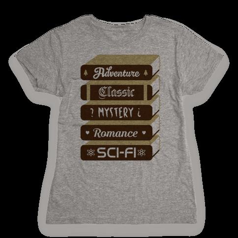 Book Stack Womens T-Shirt