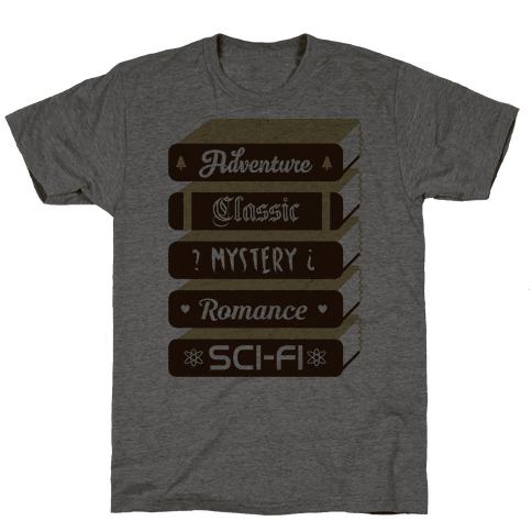 Book Stack Mens T-Shirt