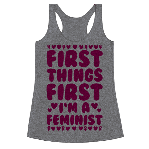 Fancy Feminist Racerback Tank Top