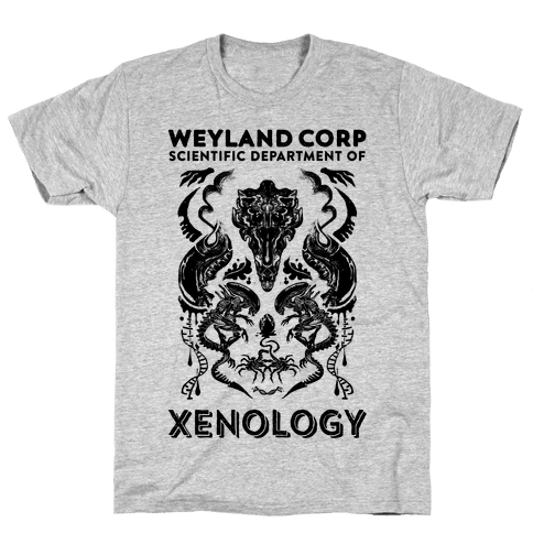 Weyland Corp Scientific Department Of Xenology Mens T-Shirt