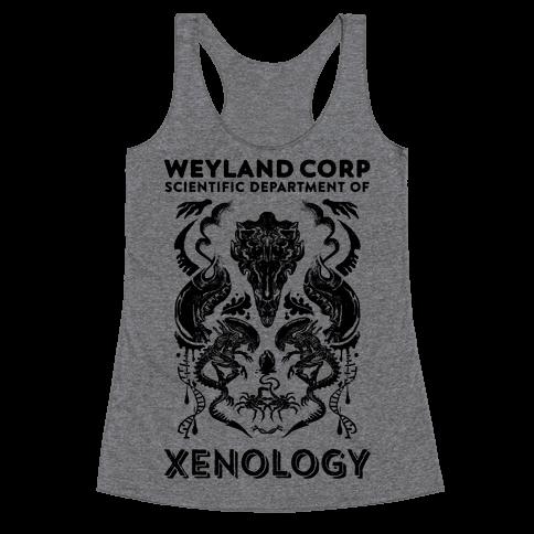 Weyland Corp Scientific Department Of Xenology Racerback Tank Top