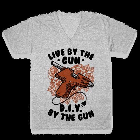 Live By the Gun DIY By the Gun V-Neck Tee Shirt