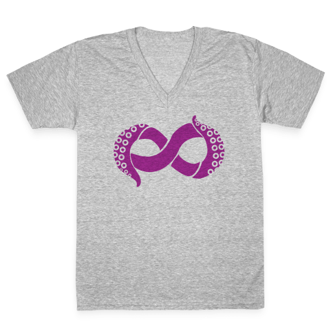 Octopi Forever V-Neck Tee Shirt