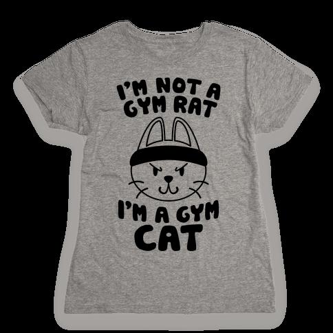 I'm A Gym Cat Womens T-Shirt