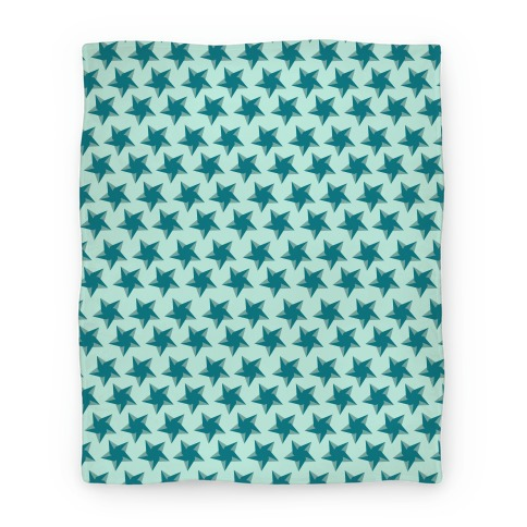 Teal Star Pattern Blanket