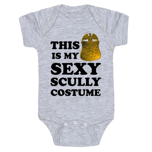This Is My Sexy Scully Costume Baby Onesy