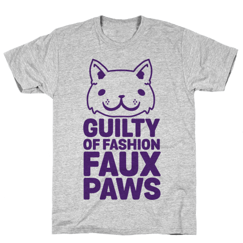 Guilty of Fashion Faux Paws Mens T-Shirt