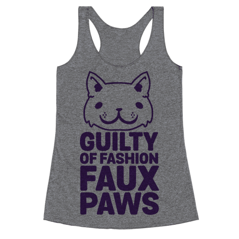 Guilty of Fashion Faux Paws Racerback Tank Top