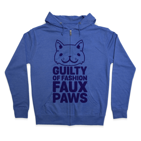 Guilty of Fashion Faux Paws Zip Hoodie