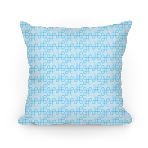 Blue Geometric Loop Pattern Pillow