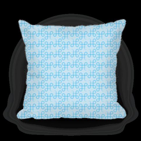 Blue Geometric Loop Pattern