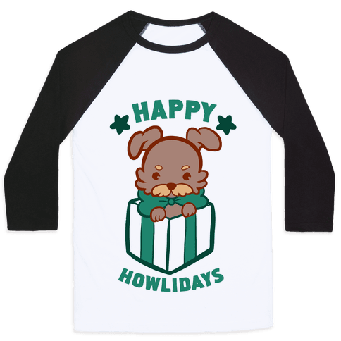 Happy Howlidays Baseball Tee