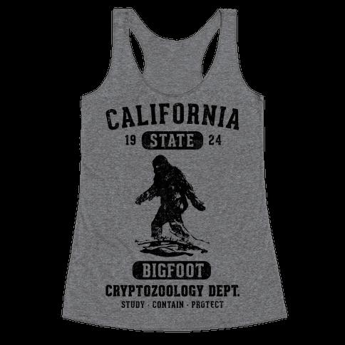 California Bigfoot Cryptozoology Racerback Tank Top