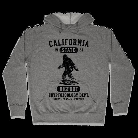 California Bigfoot Cryptozoology Hooded Sweatshirt