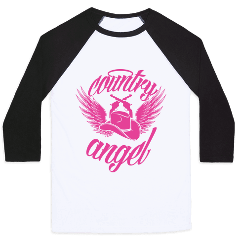 Country Angel Baseball Tee