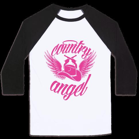 Country Angel Baseball Tee
