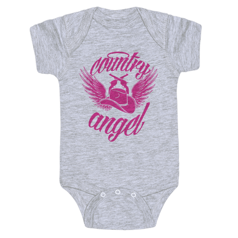 Country Angel Baby Onesy