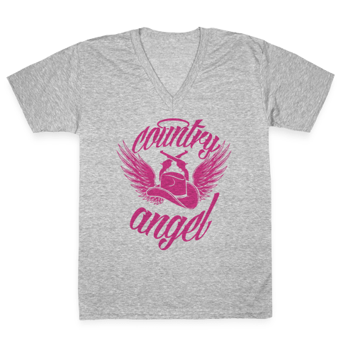 Country Angel V-Neck Tee Shirt