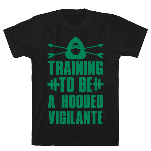 Training to be a Hooded Vigilante Mens T-Shirt