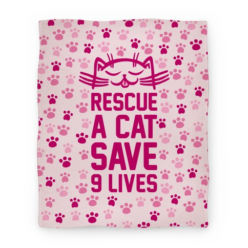 Rescue A Cat Save Nine Lives Blanket