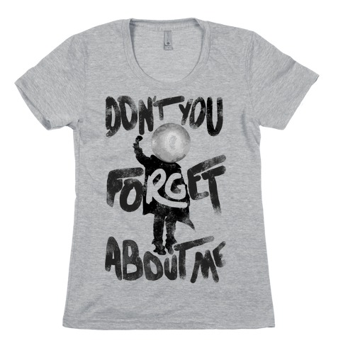 Pluto Don't You Forget About Me Womens T-Shirt
