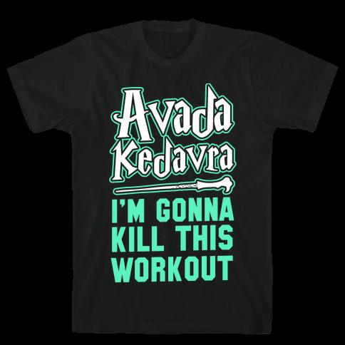 Avada Kedavra Fitness Mens T-Shirt