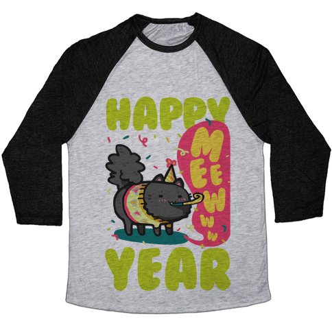 Happy Mew Year Baseball Tee